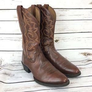 Ariat 10.5 Boots Mens Brown Tan Western Cowboy